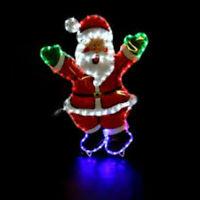 Christmas Waving Santa LED Rope Light Decoration Indoor Outdoor Xmas MultiColour