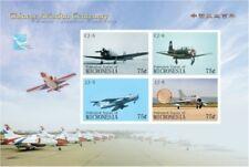 Micronesia- Chinese Aviation Centenary Stamp Sheet of 4 MNH