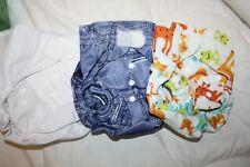 Panda Modern Cloth Nappies 3 Waterproof Covers 12 Microfibre Inserts unused