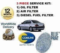 pour Toyota Avensis 2.0DT 2000-2003 NEUF 3 pièces FILTRE À CARBURANT air huile