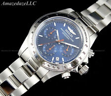 NEW Invicta Men's 40mm SPEEDWAY Chronograph  Stainless Steel BLUE DIAL Watch !!