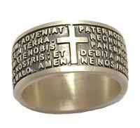 Anello uomo in argento 925 PADRE NOSTRO preghiera latino con incisione