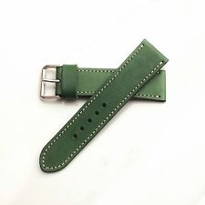 24mm wristwatch strap Watch bands Veg-tan Leather hand dyed italy leather