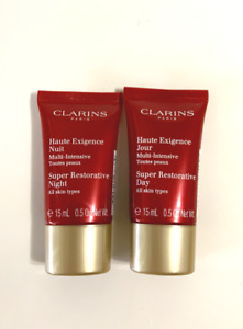 2pc Clarins Super Restorative day Cream & night cream 0.5oz each