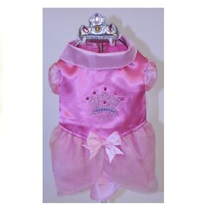 High Quality Dog Costume - SATIN PRINCESS COSTUMES - Comes with Crown for Dogs
