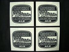 ⭐️ 4 Vintage GENESEE BEER 12 Horse Ale Coasters Bar Ad STONE ART by Alexander ⭐️