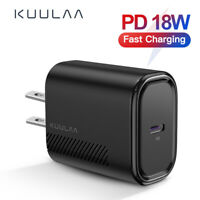 KUULAA 18W Fast Quick Charge PD QC3.0/4.0 Type-C Wall Charger Power Adapter
