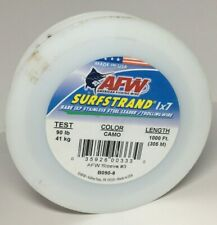 AFW Surfstrand 1X7 Stainless Steel Leader Wire 1000FT Camo 90LBS Trolling Wire