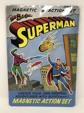 Superman Magnetic Action Set 40 Punch Out Magnets Playbook