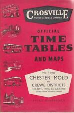 More details for crosville bus timetable book chester sep 1959 with route map