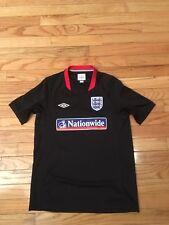 Team England Umbro Alt Black Youth Soccer Jersey Size L