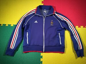 France FFF National Team Adidas Blue Training Jacket Youth Size XL Awesome