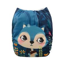 1 Baby Cloth Diaper Nappy Reusable Washable Pocket Microfleece PUL Fox