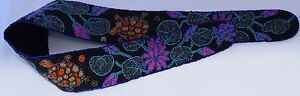 """Hand Beaded  Lotus Turtle Unique Indonesian Wrap Wide Small 36"""" High Waist Belt"""