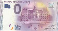 -- 2015-1  BILLET TOURISTIQUE  0 EURO SOUVENIR  -- CHÂTEAU DE VAUX LE VICOMTE