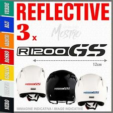 3x R1200GS black BMW MOTORRAD helmet ADESIVI PEGATINA STICKERS AUTOCOLLANT casco