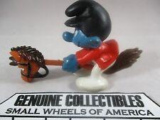 """""""Vintage"""" Super Smurfs HOBBY HORSE #40214 Schleich Peyo 1980 NICE!"""