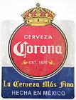 "Corona Beer Crown Logo Sign Tin Tacker 23"" x 17"" Cerveza Logo Man Cave NEW"