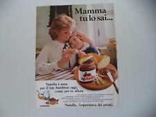 advertising Pubblicità 1983 NUTELLA FERRERO