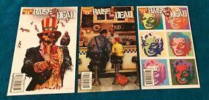 Raise the Dead (2007) 1,2,3 Dynamite CGC it Arthur Suydam 1st Print Zombie