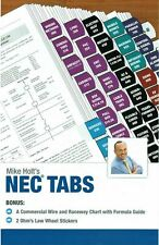 2017 Mike Holt's Nec Tabs (Color Coded) with Ohm's Law Stickers and Wire Chart