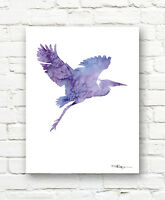 NEWFOUNDLAND Contemporary Watercolor Abstract ART Print by Artist DJR