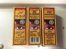 3 Unid Kohl Khol árabe arabe polvo negro ojo kajal natural marroqui Al-Sherifain