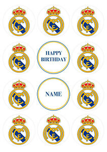 Real Madrid FC Football CupcakeToppers | Icing Sheet / Wafer Paper Edible Print