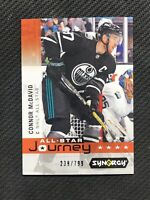 2019-20 UD SYNERGY CONNOR MCDAVID ALL-STAR JOURNEY '18-19 APPEARANCE #ed 239/799
