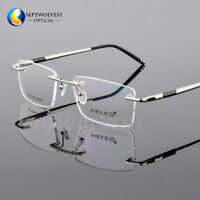 586a971761b Titanium Alloy Rimless Reading Glasses UV400 Coating Lens Reader +0.00  ~+5.00