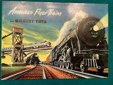 Original American Flyer Trains and Gilbert Toys 1952 Catalog