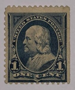 Travelstamps: 1894 US STAMPS Scott #247, 1cent, MINT NG Hinged, Franklin, Blue
