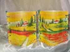 2 Deko Windlichter Landschaft Häuser mediterran Tischlicht Geschenkidee