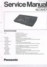 Panasonic WJ-AVE7 Mixer Service Anleitung Service Manual