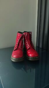 Dr. Martens 1460 W Red Boots Size 4/37 *GC*