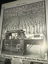 Milwaukee Bottle Soaker Equipment Beer Ad 1907 Brewery Kiewert