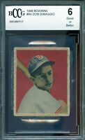 1949 Bowman #64 Dom DiMaggio Card BGS BCCG 6 Good+