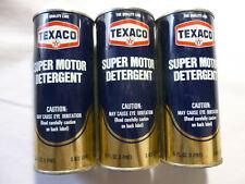 Texaco ZDDP Engine Oil Super Motor Detergent Additive Restores Zinc 3 pack 16oz