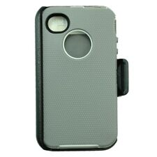 For Apple iPhone 4/4s Case Cover(Belt Clip Holster Fits Otterbox Defender)Gry Wt