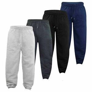 Mens Tracksuit Bottoms with Zip Pockets - Fleece Joggers - Jogging Bottom