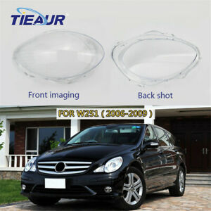 Pair Headlight Lens Clear Shell Replacement Fit For Mercedes-Benz W251 2006-2009