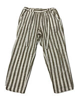 GRAE Linen Womens size 12 Pants Straight Leg Elastic Waist Casual