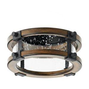 kichler 4'' barrington distressed black and aged wood baffle recessed light trim
