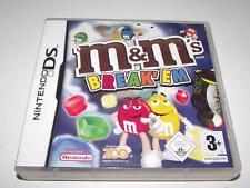 M & M's Break Em Nintendo DS 3DS Game Preloved *No Manual*