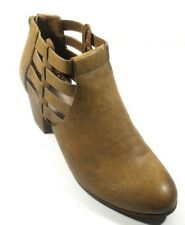 "Fergalicious by Fergie ""Galena"" Tan Synthetic Rear Zip Med Heel Ankle Boot 9.5 M"