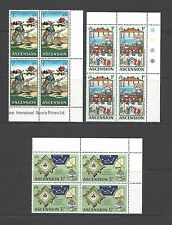 ASCENSION 1971 SG 135/48 MNH Blocks of 4 Cat £128