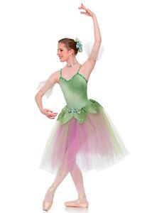 Flower Waltz Dew Drop Sugar Plum Fairy Ballet Tutu Costume Long or Short AS CXL