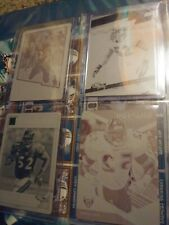 Ray Lewis Printing Plate Lot Of 4 Baltimore Ravens 1/1s Miami Hurricanes