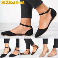 Women Summer Huarache Casual Ankle Strap Buckle Flat Leopard Print Nude Shoes JP