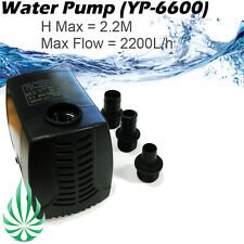 2200L / Hour Water Pump Fo Hydroponics Aquarium Water Feature Fountain MaxH=2.2M